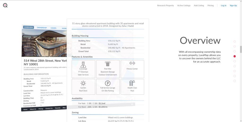 Lavamap website screenshot 3