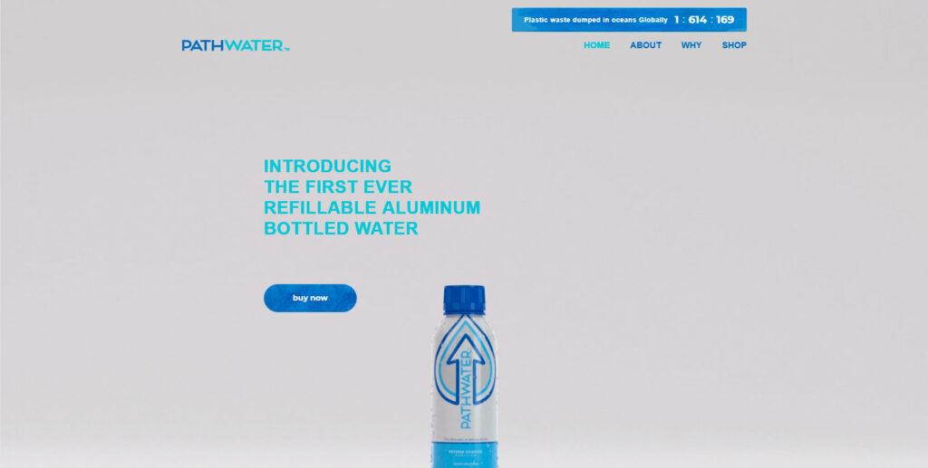 Pathwater website screenshot 1