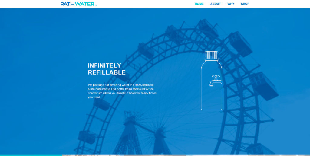 Pathwater website screenshot 2