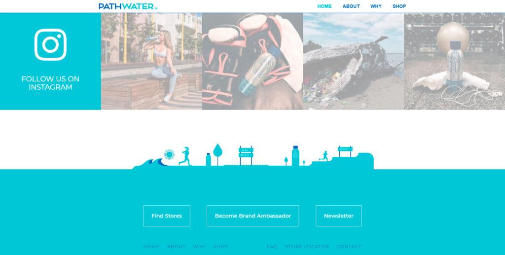 Pathwater website screenshot 3