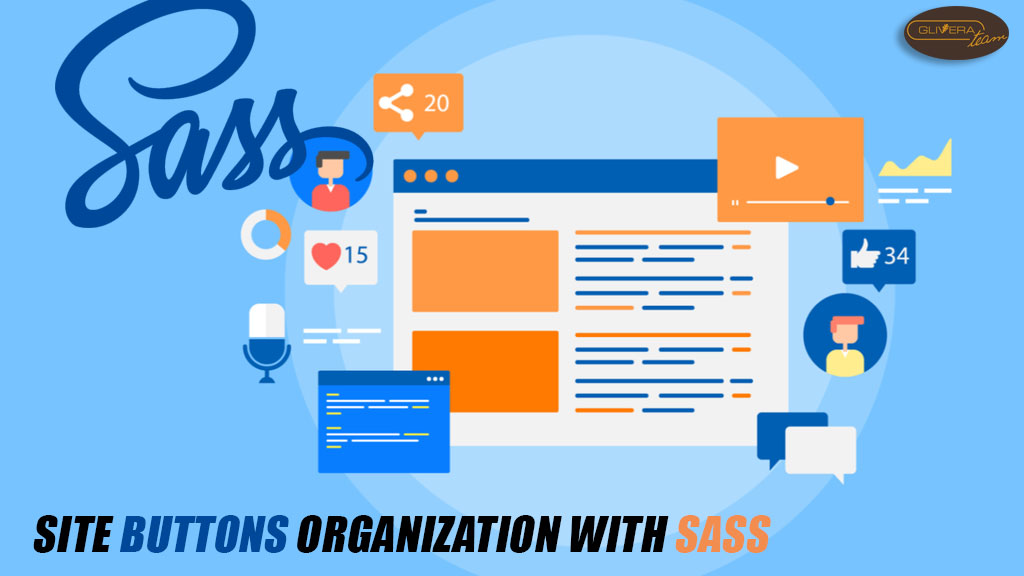 Site buttons organization with Sass