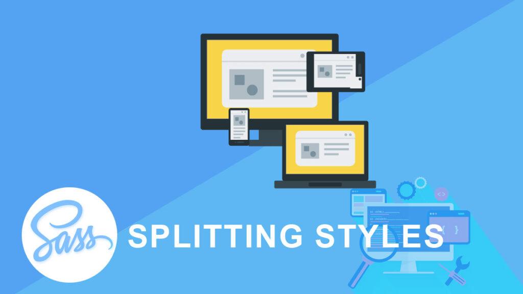 Splitting styles SASS