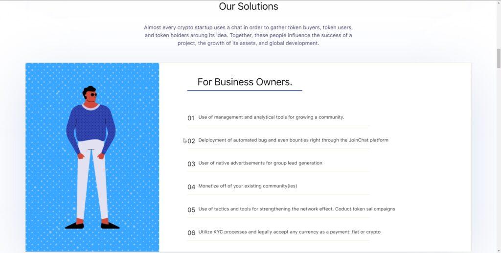 Joinchat website screenshot 3