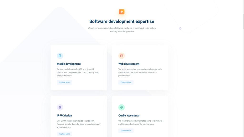 Cleveroad website screenshot 2