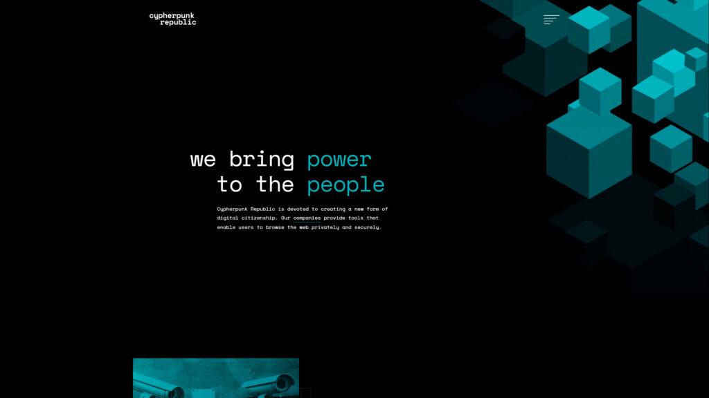 Cypherpunk website screenshot 1