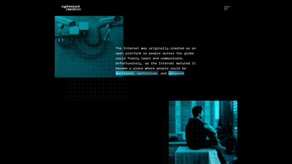 Cypherpunk website screenshot 2