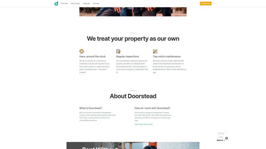 Doorstead website screenshot 3