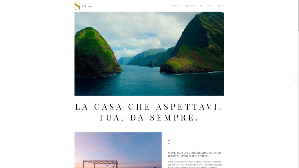 Val Seriana website screenshot 1