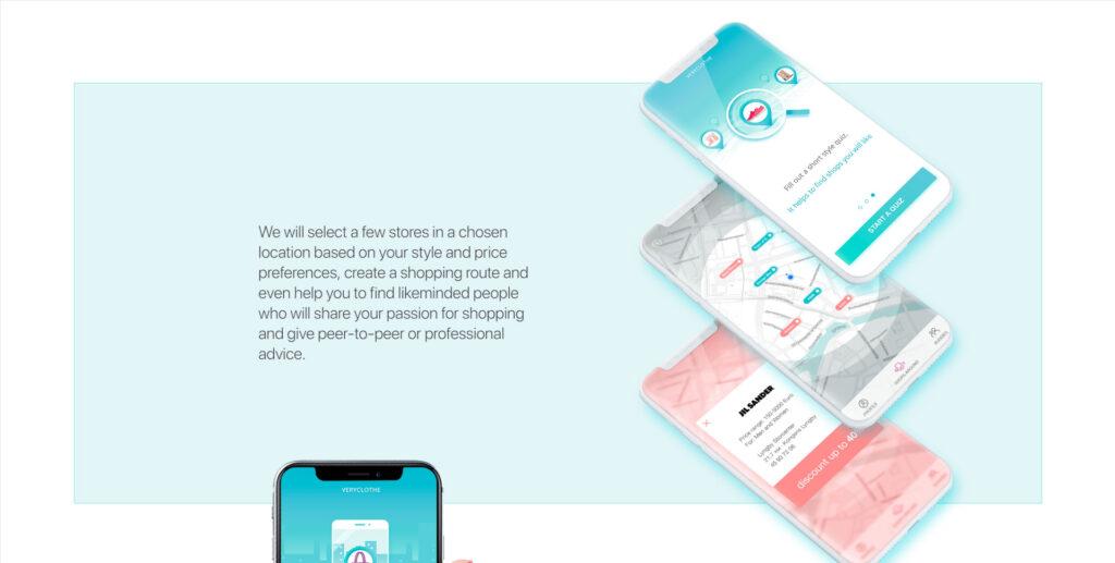 Very clothe website screenshot 2