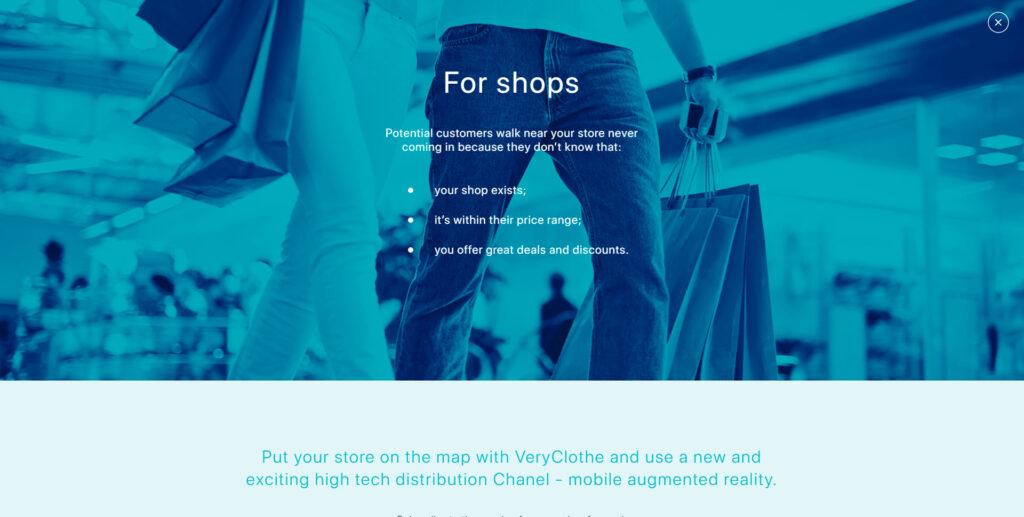 Very clothe website screenshot 3