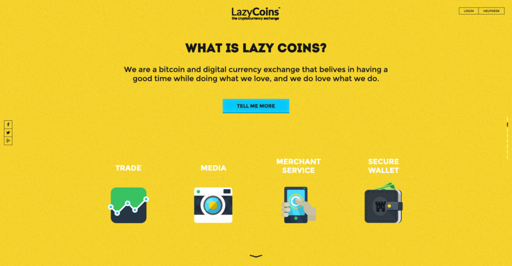 Lazycoin website screenshot 2