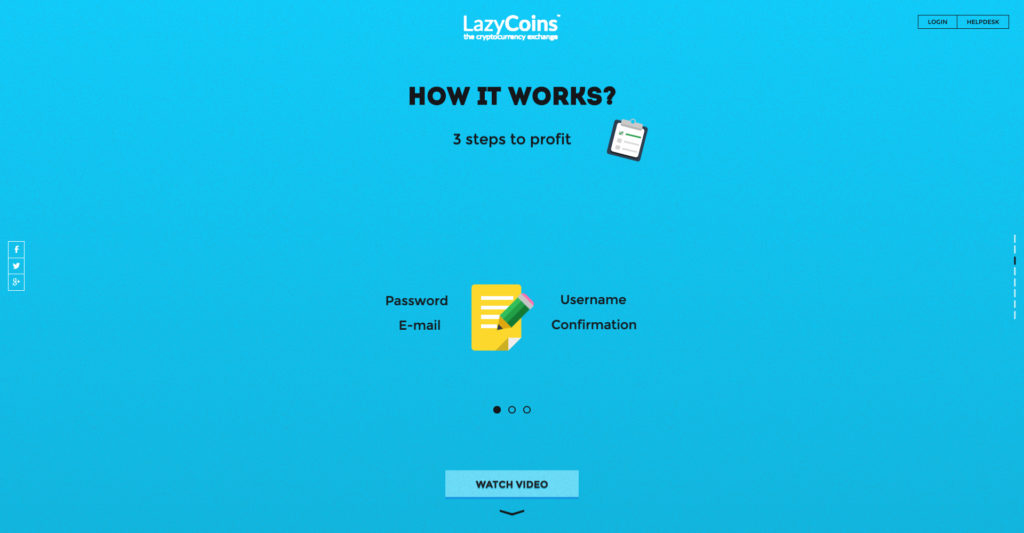 Lazycoin website screenshot 3