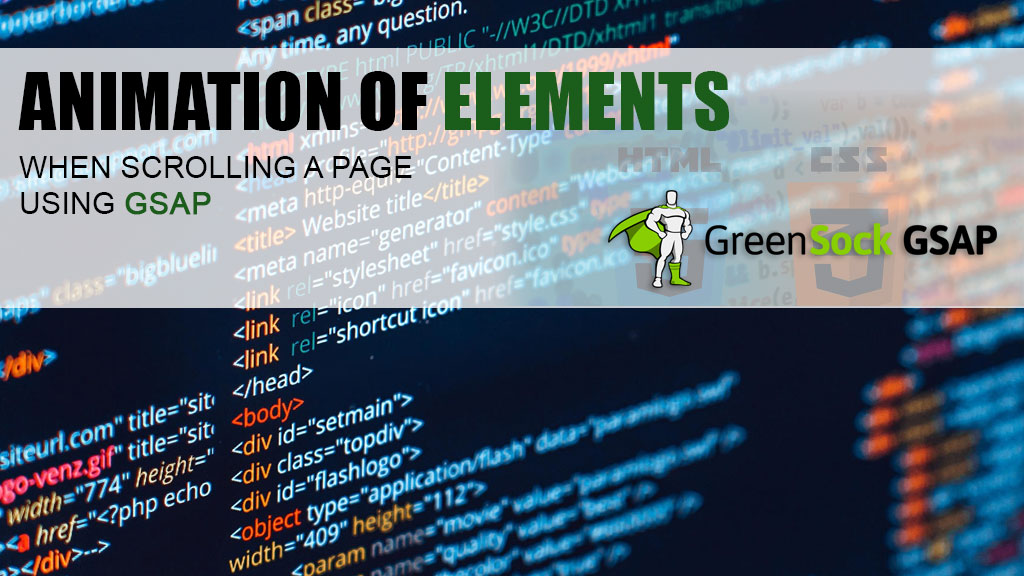 Animation of elements when scrolling a page using GSAP