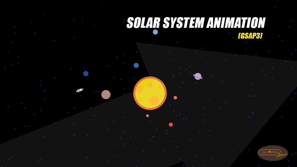 How to create Solar System Animation with HTML CSS GSAP3