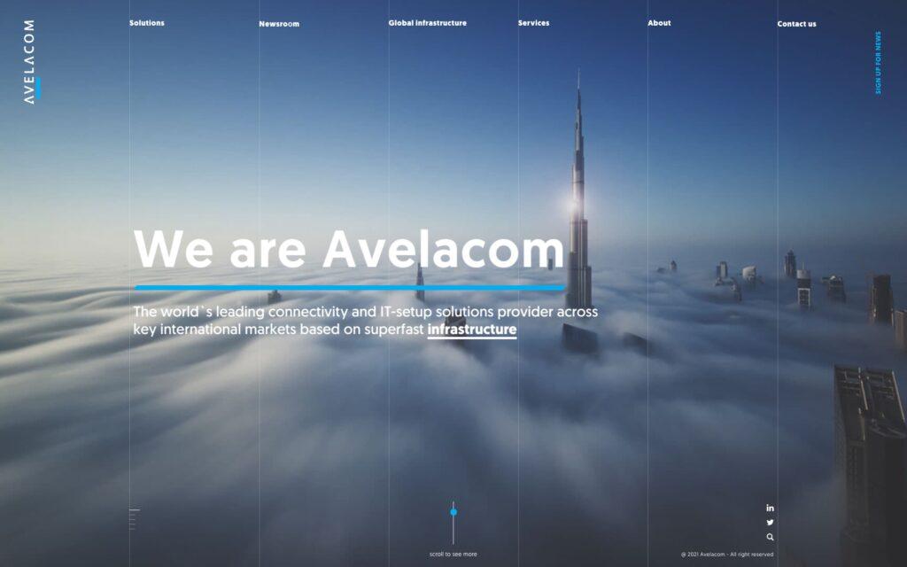 Frontend portfolio - Project Avelacom
