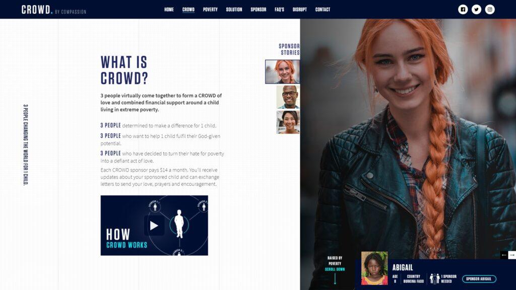 Crowd website screenshot 2