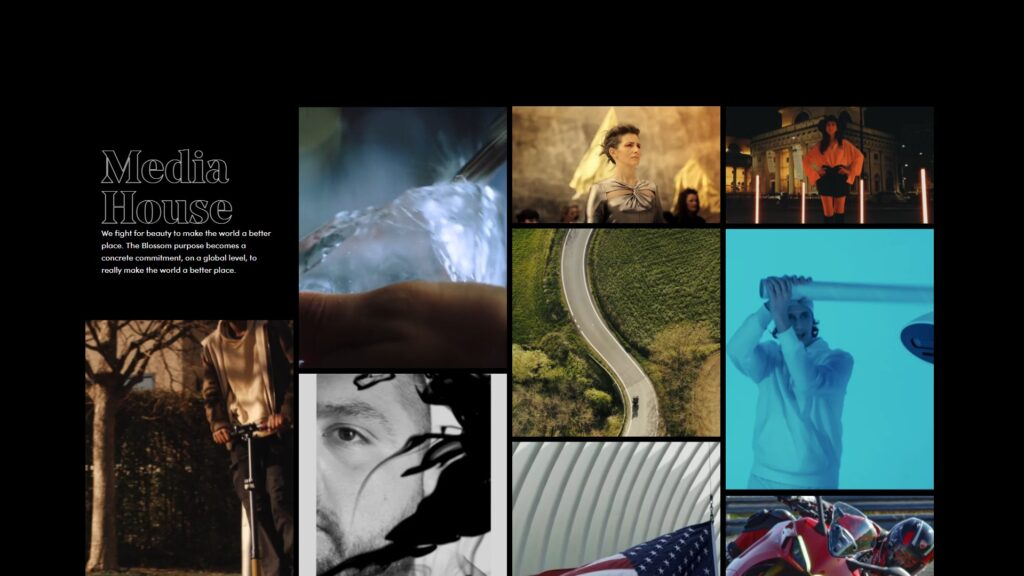 Blossom Srl website screenshot 1
