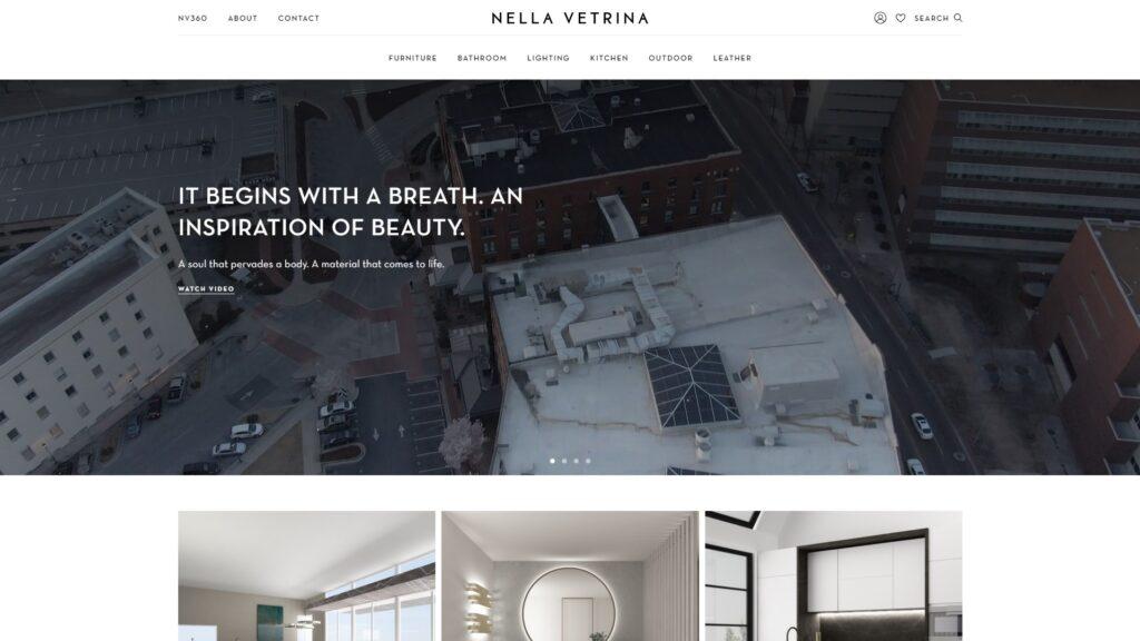 Nella Vetrina website screenshot 1