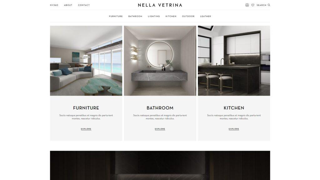 Nella Vetrina website screenshot 2