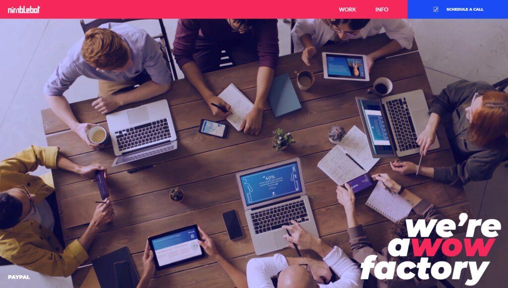 Nimblebot website screenshot 1