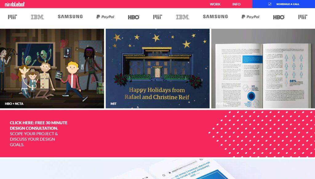 Nimblebot website screenshot 2