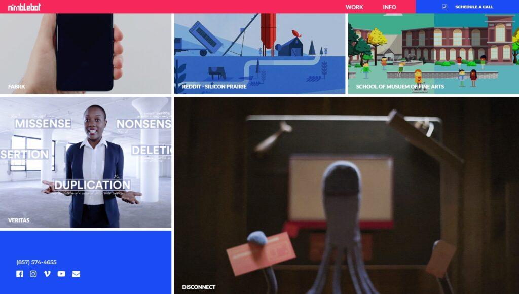 Nimblebot website screenshot 3